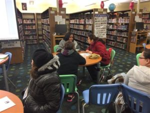 Parents in library