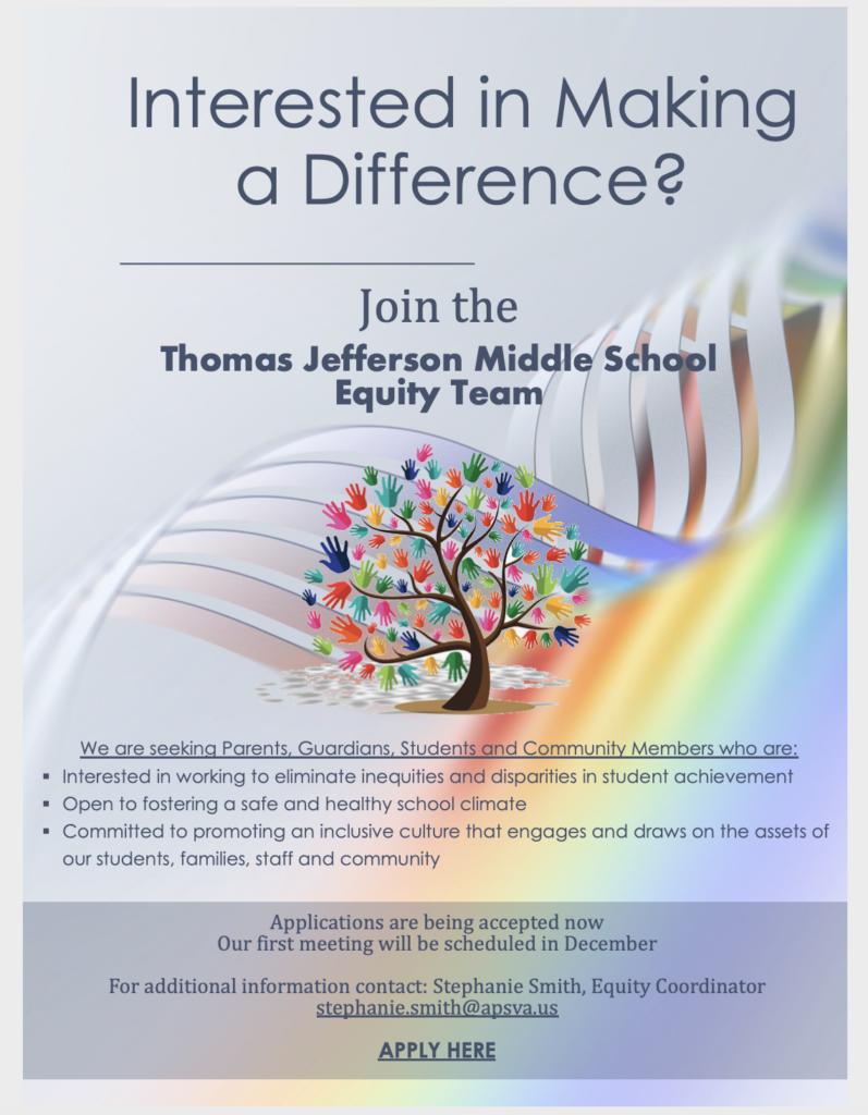 Equity Team Flyer
